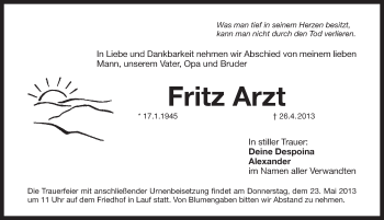 Zur Gedenkseite von Fritz Arzt